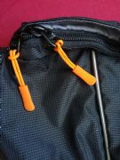 ORANGE ZIPPER ZIP TAG PULLER EXTENDER BAGSTER KRIEGA OGIO TOURATECH BMW YKK BAGS